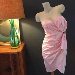 Vintage Dresses - Vintage 1960's-1970's Strapless Satin Dress